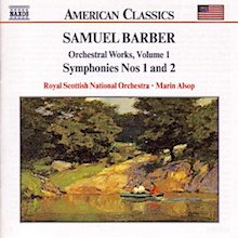 Barber first symphony album front